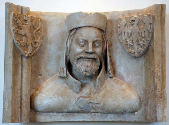 A plaster cast bust of Charles IV at the Prague Castle
