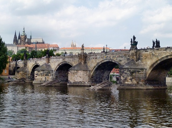 View of the Charles bridge (Author: JoJan)