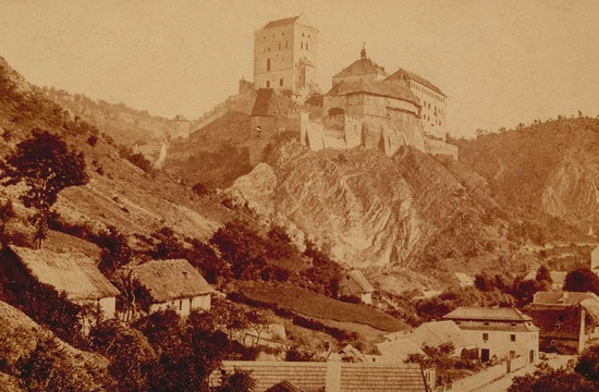 Karlštejn Castel around 1870