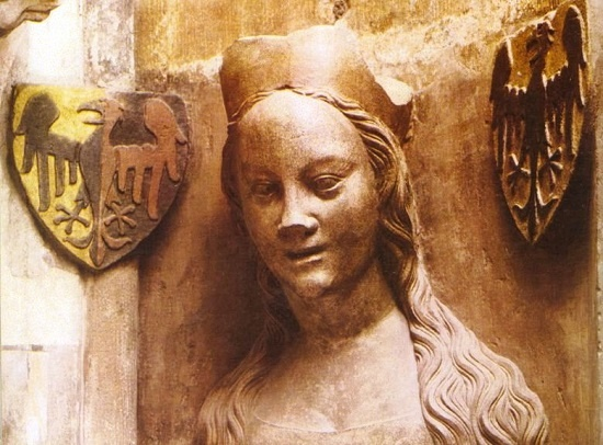 Bust of Anna of Schweidnitz on the triforium of St. Vitus Cathedral