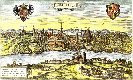 Gorlitz - seat of John - on picture from the 16th century