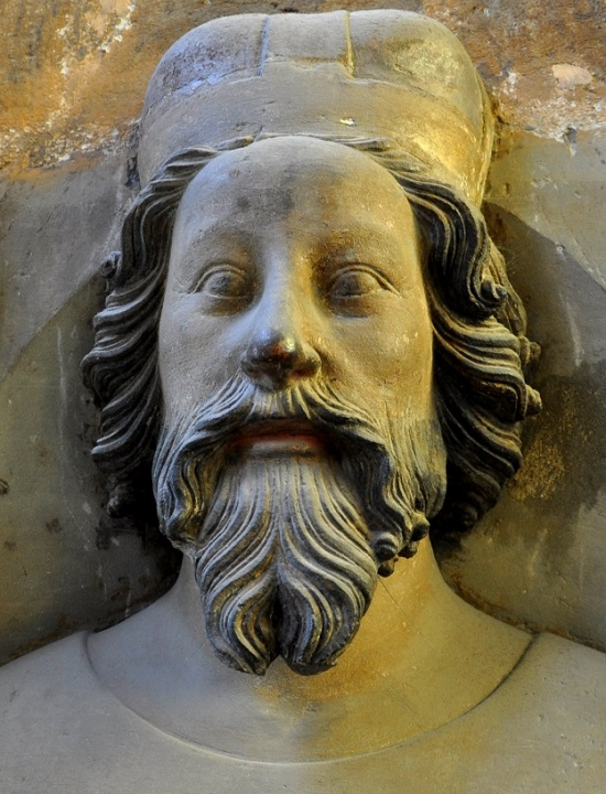 Bust of Wenceslas of Luxembourg on the triforium of St. Vitus Cathedral (author: Packare)